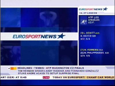 ����// Eurosport News//�����//��� �����//Eurobird 9A, 9�E